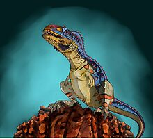 Majungasaurus, a theropod dinosaur from the Cretaceous Period. by StocktrekImages