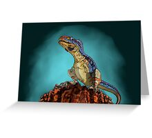 Majungasaurus, a theropod dinosaur from the Cretaceous Period. Greeting Card