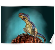 Majungasaurus, a theropod dinosaur from the Cretaceous Period. Poster