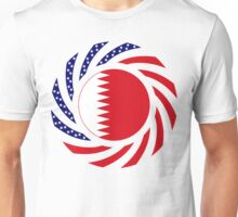 Qatari American Multinational Patriot Flag Series Unisex T-Shirt