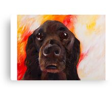 Flat Coated Retriever Canvas Print
