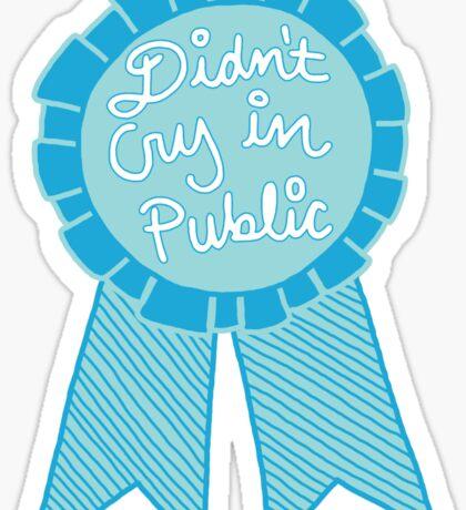 Didn't cry in public depression tumblr award adulting ribbon Sticker