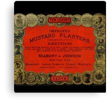 Vintage Mustard Plasters Tin Canvas Print