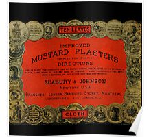 Vintage Mustard Plasters Tin Poster