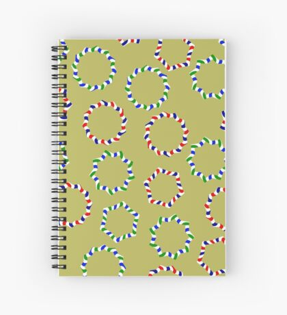 Happy Garlands Spiral Notebook