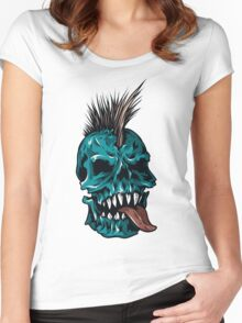 Skull #4 Women's Fitted Scoop T-Shirt