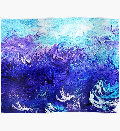 Abstract Ocean Fantasy IV Poster