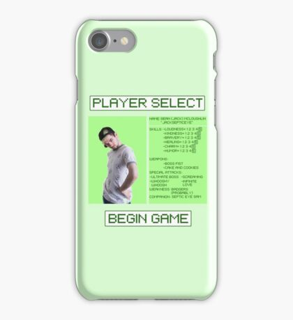 Jacksepticeye Player Select Screen iPhone Case/Skin