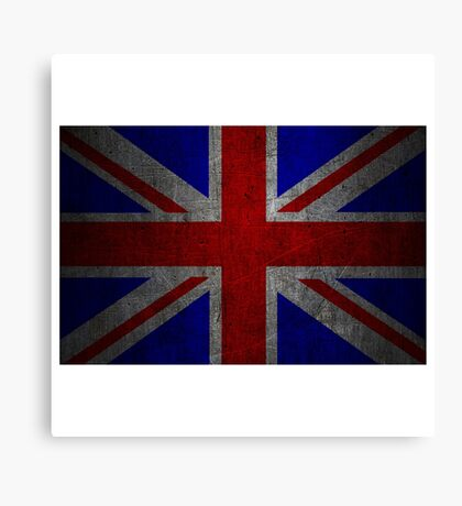 Grunge United Kingdom flag Canvas Print