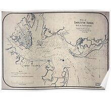 Civil War Maps 1314 Plan of Charleston Harbor and its fortifications Poster