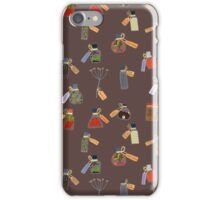 Winter Potion&Spell Ingredients (Brown) iPhone Case/Skin