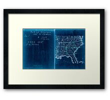 Civil War Maps 2136 Map of Virginia and North Carolina from the coast to the Blue Ridge 02 Inverted Framed Print