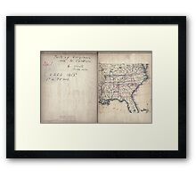 Civil War Maps 2136 Map of Virginia and North Carolina from the coast to the Blue Ridge 02 Framed Print