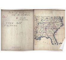 Civil War Maps 2136 Map of Virginia and North Carolina from the coast to the Blue Ridge 02 Poster