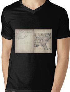 Civil War Maps 2136 Map of Virginia and North Carolina from the coast to the Blue Ridge 02 Mens V-Neck T-Shirt