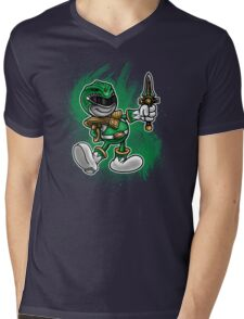 Vintage Green Ranger Mens V-Neck T-Shirt