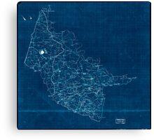 Civil War Maps 2000 Map of Hanover County Va Inverted Canvas Print
