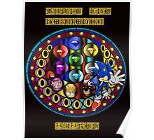 Sonic The Hedgehog Mandala Poster