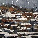 Snow On Edinburgh 8 by Ross Macintyre