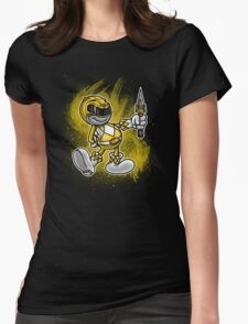 Vintage Yellow Ranger Womens Fitted T-Shirt