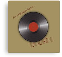 music plate Canvas Print