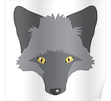 A beautiful Silver Fox Poster