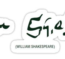 William Shakespeare - Signature Sticker