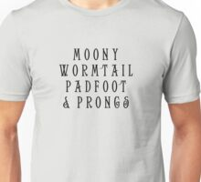 Moony Wormtail Padfoot and Prongs Unisex T-Shirt