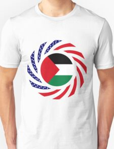 Palestinian American Multinational Patriot Flag Series Unisex T-Shirt
