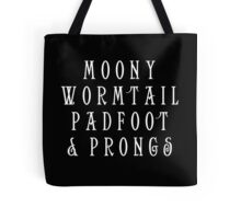 Moony Wormtail Padfoot and Prongs white Tote Bag