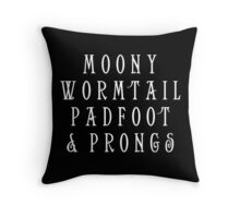 Moony Wormtail Padfoot and Prongs white Throw Pillow