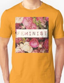 Floral Feminist Design T-Shirt