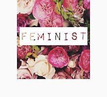 Floral Feminist Design Unisex T-Shirt