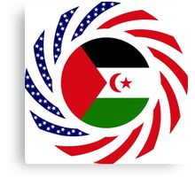 Sahrawi Arab Democratic Republic American Multinational Patriot Flag Series Canvas Print