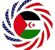 Sahrawi Arab Democratic Republic American Multinational Patriot Flag Series Photographic Print