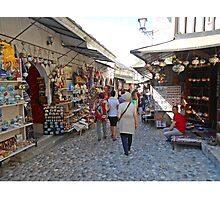 Shops in Mostar Photographic Print