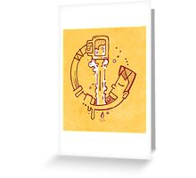 Drinking beer Greeting Card