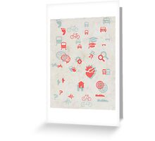 Urban mobility symbols Greeting Card