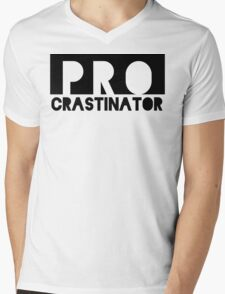 PROcrastinator Mens V-Neck T-Shirt