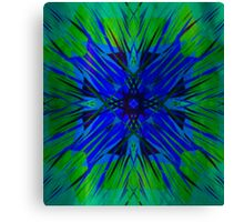 Perfectly Blue - Abstract Digital Art Canvas Print