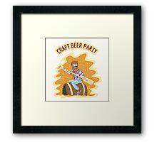 Craft Beer Party Framed Print