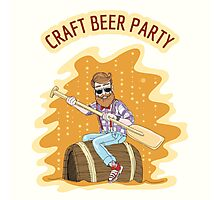Craft Beer Party Photographic Print
