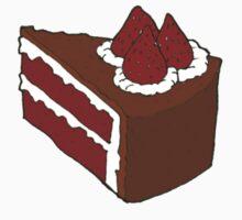 Strawberry Chocolate Cake One Piece - Short Sleeve