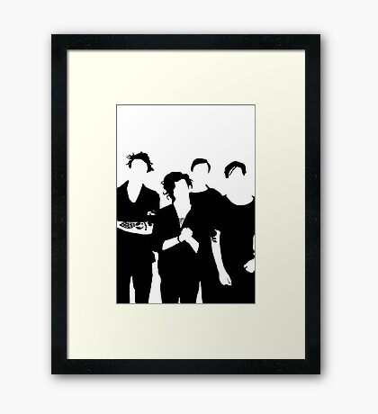 The 1975 Black and White Silhouette  Framed Print