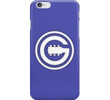 Guitar Player White sign iPhone Case/Skin