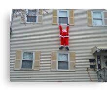Santa Hanging Around For Christmas Canvas Print