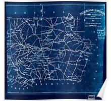Civil War Maps 0366 Fairfield Districtt South Carolina Inverted Poster
