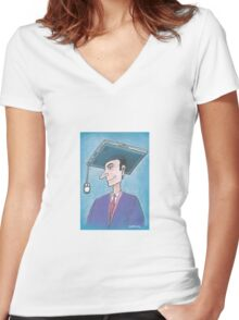 Education Women's Fitted V-Neck T-Shirt