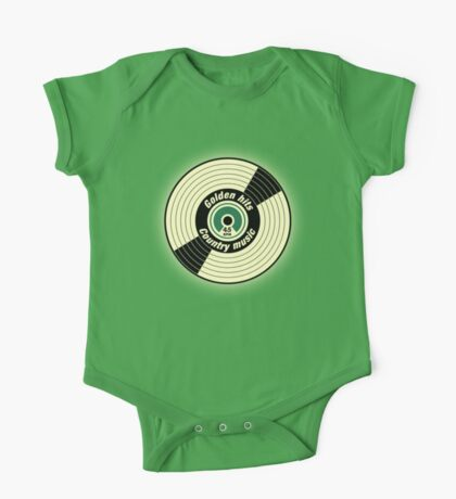 Golden Hits Country music Record  One Piece - Short Sleeve