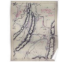 Civil War Maps 0060 Atlanta campaign-1864 ''Rossville'' to ''Snake Creek Gap'' Poster